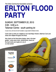 Erlton Flood Party Poster