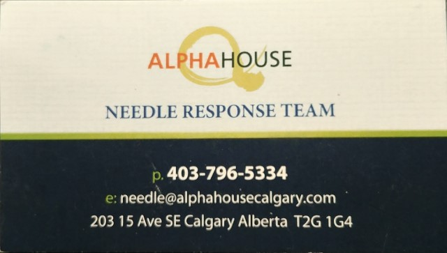 Alpha House Needle Response Team